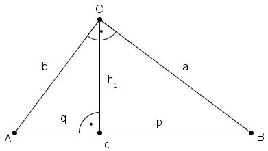 rechtwinkliges dreieck h he berechnen dreiecksberechnung. Black Bedroom Furniture Sets. Home Design Ideas