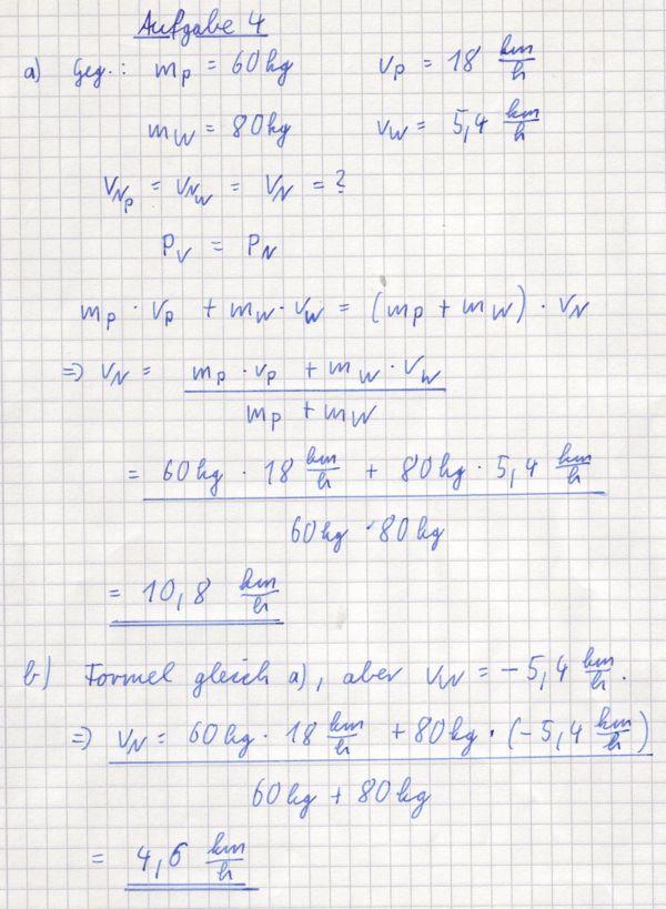 Physik 10/Arbeitsblatt Impuls - Lösungen – RMG-Wiki